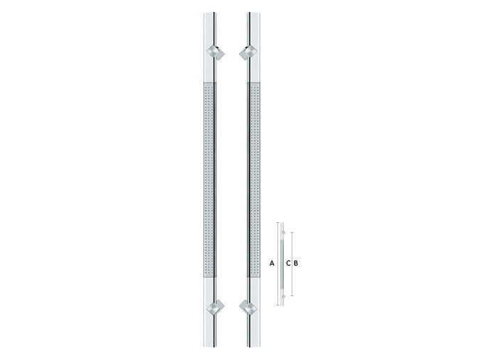 Luxury Modern Glass Door Handles , Commercial Door Handle Prevention Of Scratch