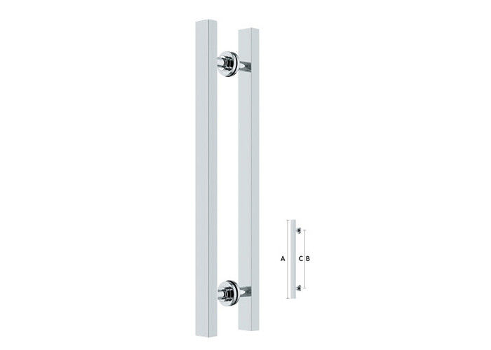 Furniture door pull and push handle for wood and glass door handle SS201 SS304.
