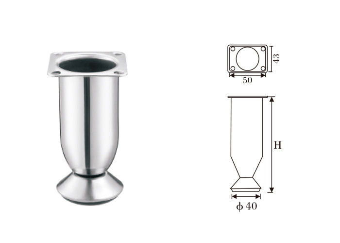 Simple Classic Metal Furniture Legs Hardware Different Color Surface Treatment