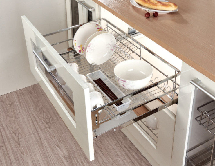 Pull Out Cabinet Sliding Wire Basket Modern Kitchen Accessories For Storage