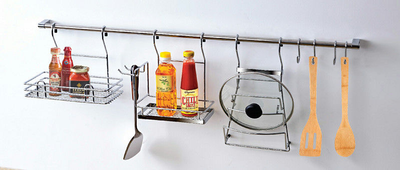 Longlife Stainless Steel Modern Kitchen Accessories Rack Collections Eco - Friendly